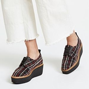 Castañer Crepe Sole Tweed Platform Shoe NEW YORK